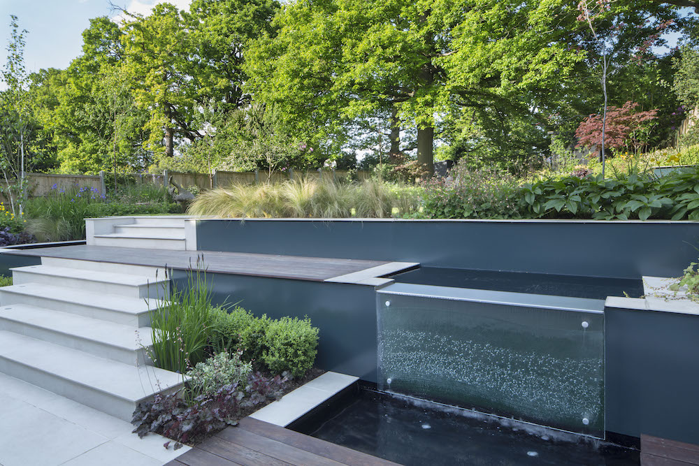 Modern Woodland Garden Design, East Finchley, London N2