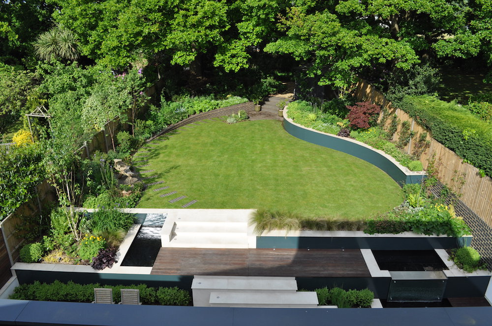 modern woodland garden design east finchley london n2