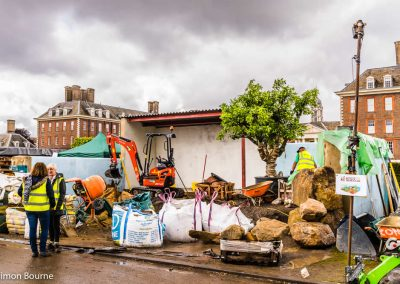 CAMFED Garden, Chelsea - Build Day 7, afternoon, London 2019 - small