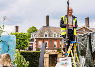 Chris 01, CAMFED Garden, Chelsea - Build Day 9, London 2019- small