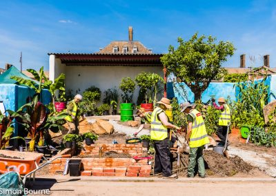 Planting Team 01, CAMFED Garden, Chelsea - Build Day 11, London 2019- small