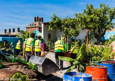 Planting Team 02, CAMFED Garden, Chelsea - Build Day 11, London 2019- small
