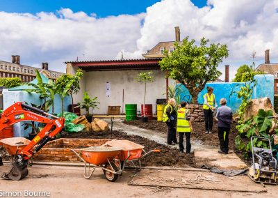Planting Team 02, CAMFED Garden, Chelsea - Build Day 9, London 2019- small