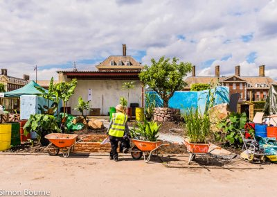 Planting Team 03, CAMFED Garden, Chelsea - Build Day 9, London 2019- small