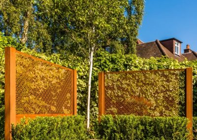 Corten screen detail