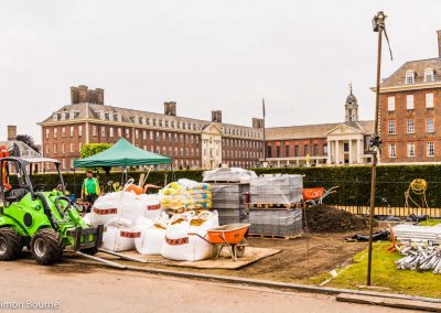 CAMFED Garden, Chelsea - Build Day 1, morning, London 2019 - small